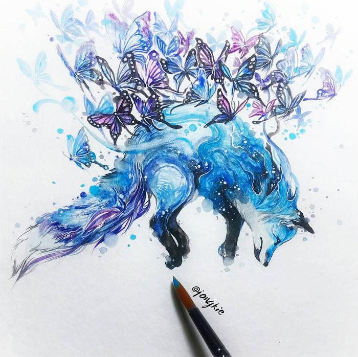 pinturas-acuarela-dan-vida-hermosos-animales-17