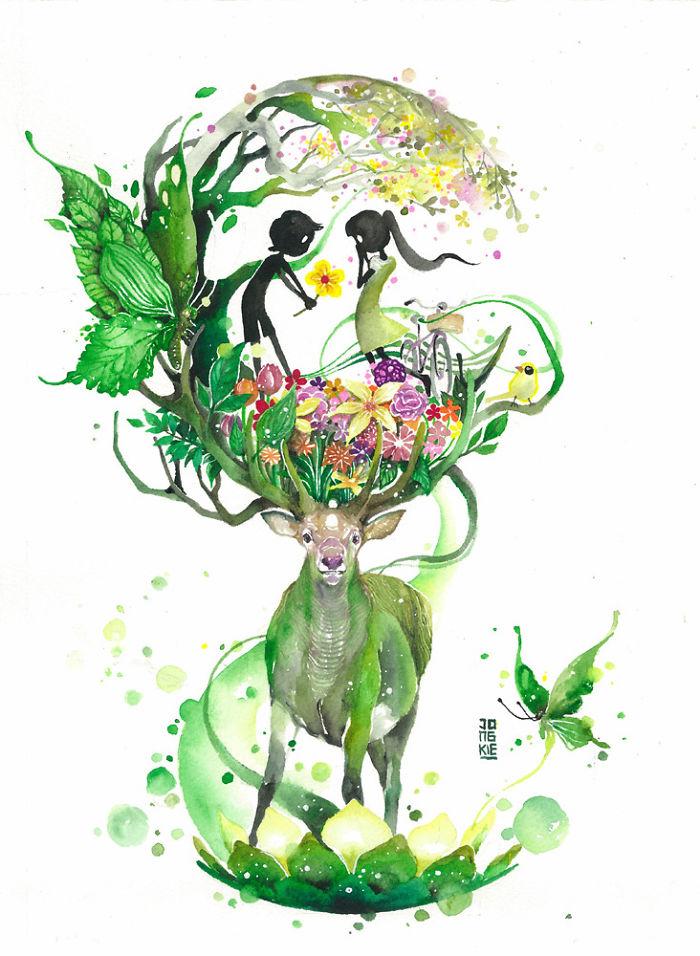 pinturas-acuarela-dan-vida-hermosos-animales-18