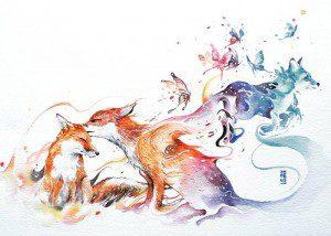 Pinturas de acuarela le dan vida a hermosos animales