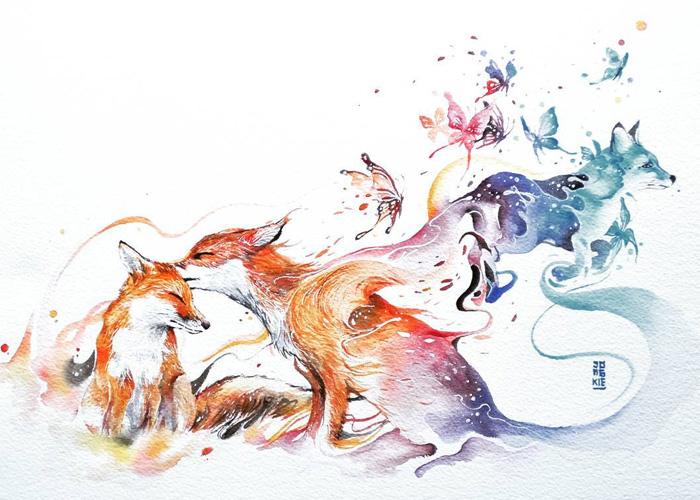 pinturas-acuarela-dan-vida-hermosos-animales-2
