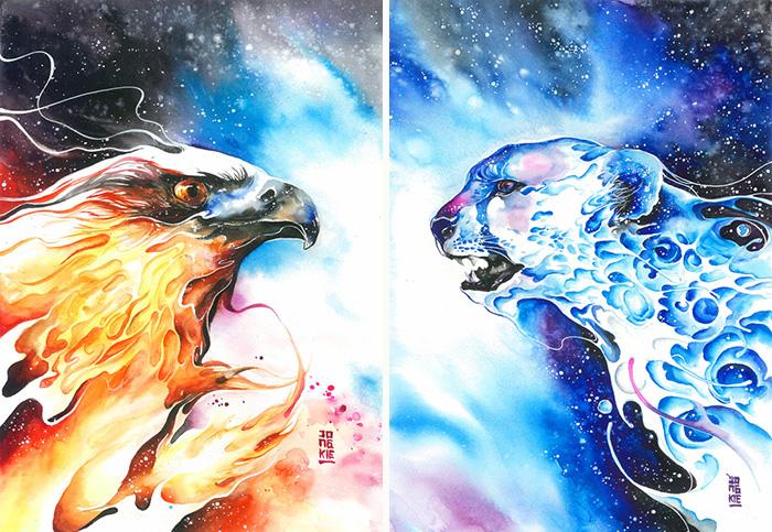 pinturas-acuarela-dan-vida-hermosos-animales-21