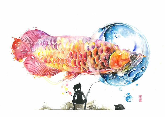 pinturas-acuarela-dan-vida-hermosos-animales-22