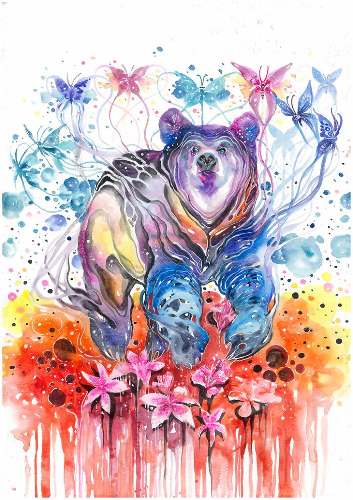 pinturas-acuarela-dan-vida-hermosos-animales-3
