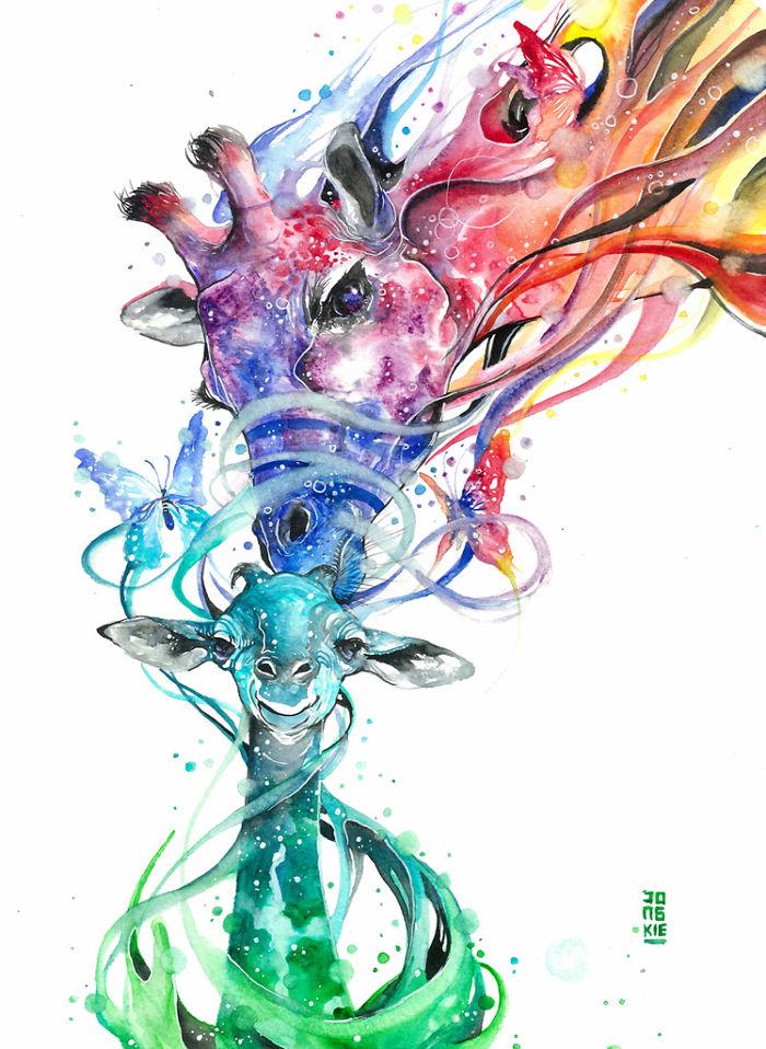 pinturas-acuarela-dan-vida-hermosos-animales-4