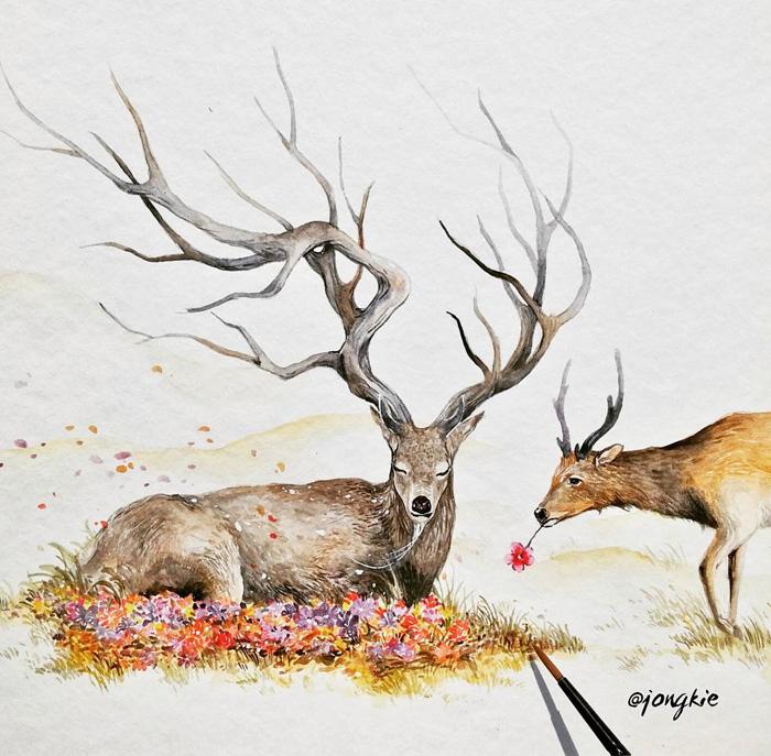 pinturas-acuarela-dan-vida-hermosos-animales-5