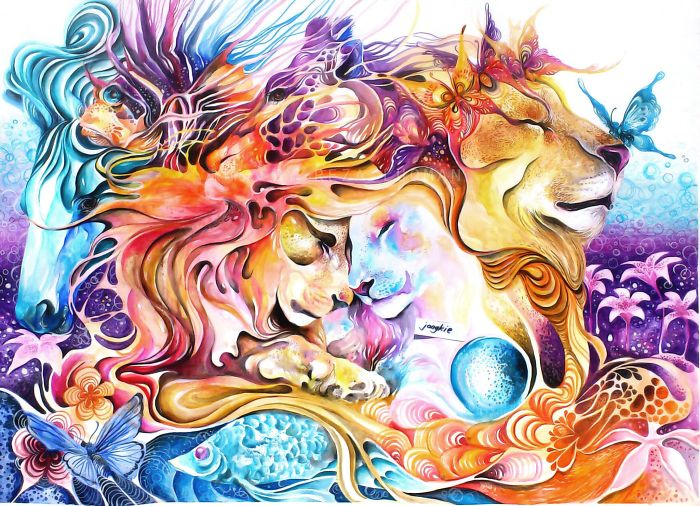 pinturas-acuarela-dan-vida-hermosos-animales-6