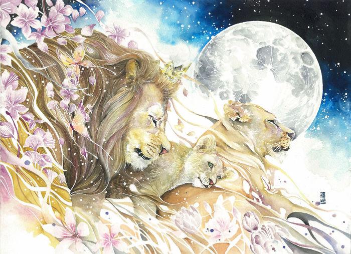 pinturas-acuarela-dan-vida-hermosos-animales-7