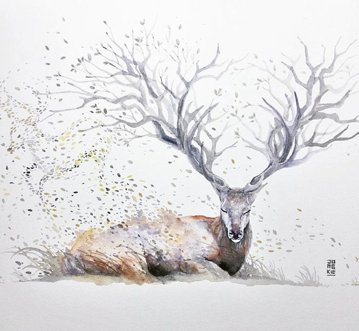 pinturas-acuarela-dan-vida-hermosos-animales-8