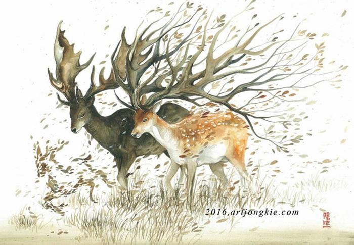 pinturas-acuarela-dan-vida-hermosos-animales-9
