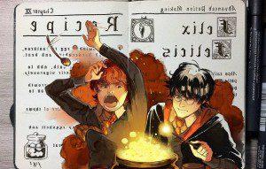 Los secretos de los hechizos de Harry Potter revelados en estas tiernas ilustraciones