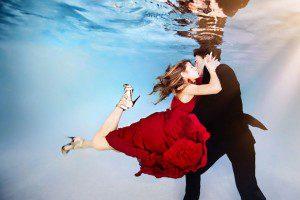 Originales sesiones de fotos bajo el agua