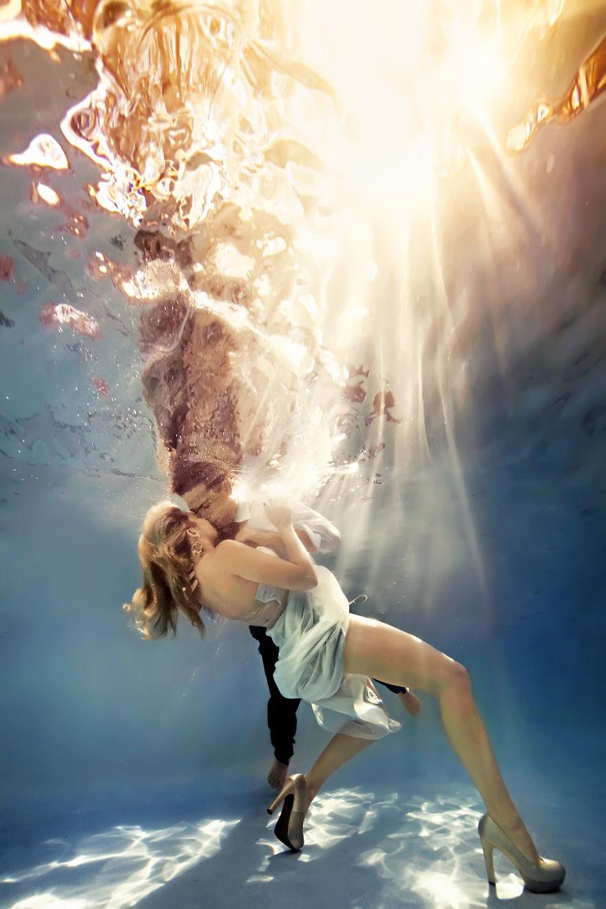 Originales sesiones de fotos bajo el agua Imagenes de hoteles bajo el agua
