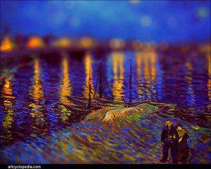 Artista le da una nueva perspectiva a las pinturas de Van Gogh