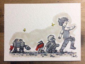 Divertidas Ilustraciones mezclan a personajes de Star Wars con Winnie the Pooh
