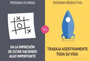 ¿Ocupado o productivo? Cuál de los dos eres?