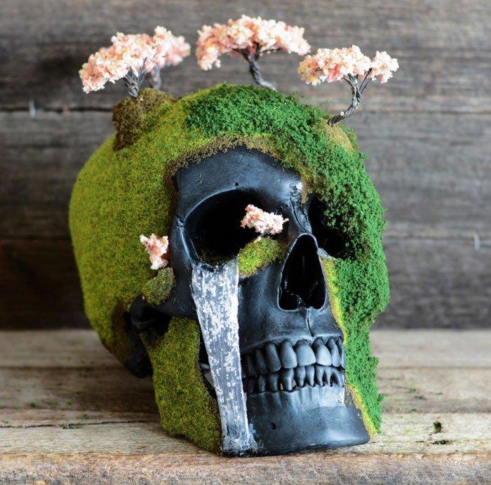Cráneos convertidos en Bonsáis 1