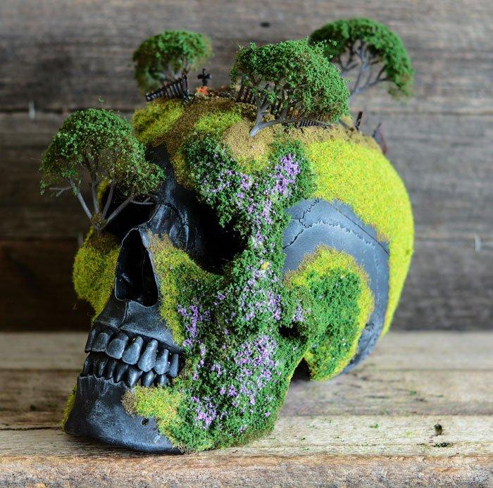 Cráneos convertidos en Bonsáis 2