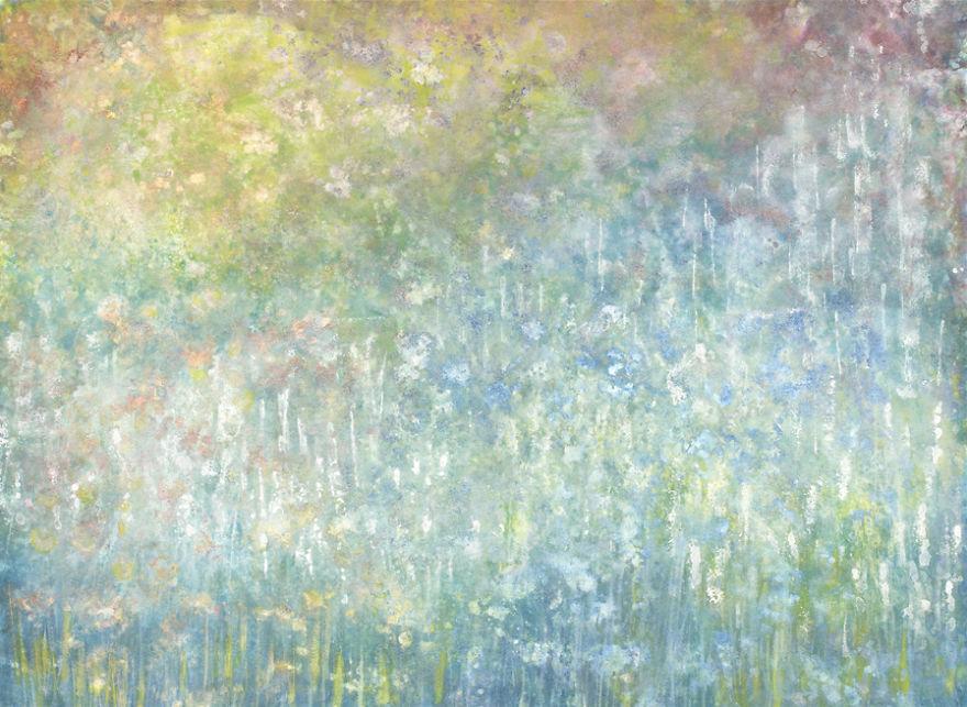 Conoce el arte de esta niña autista y su singular ayudante pintura