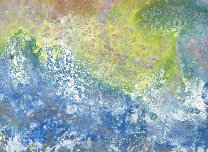 Conoce el arte de esta niña autista y su singular ayudante pintura 2