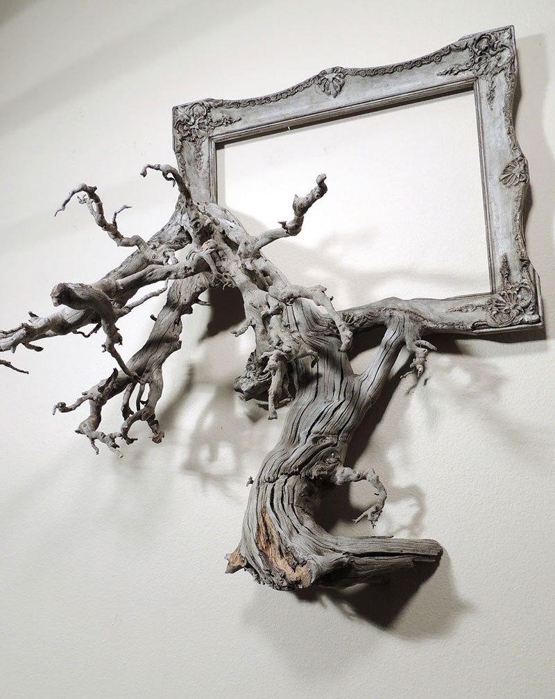 Este hombre construye arte a base de ramas caídas de un árbol 01