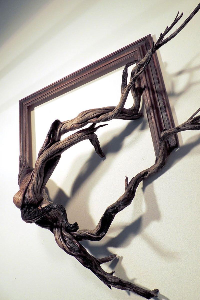 Este hombre construye arte a base de ramas caídas de un árbol 05