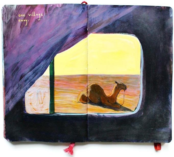 Un diario lleno de memorias pintadas a mano 006