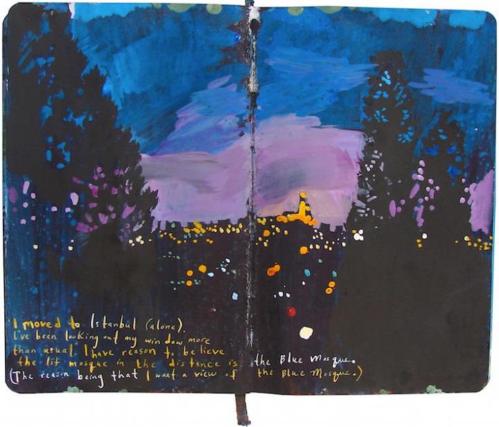 Un diario lleno de memorias pintadas a mano 007