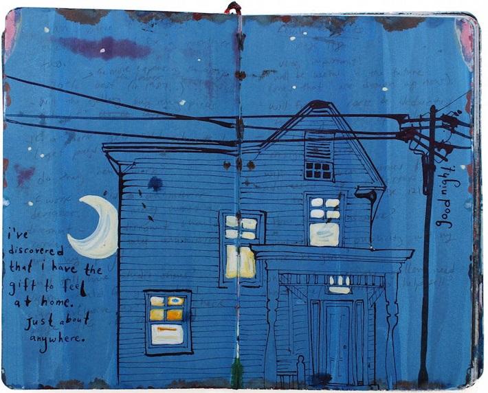 Un diario lleno de memorias pintadas a mano 011