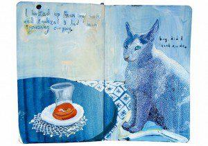 Un diario lleno de memorias pintadas a mano