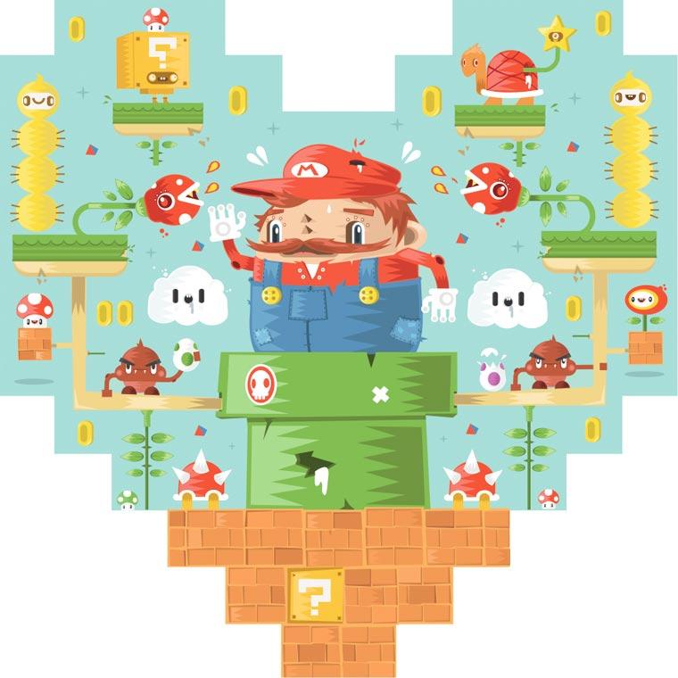 Un sentido homenaje en 8 píxeles a conocidos personajes del mundo de los videojuegos 04