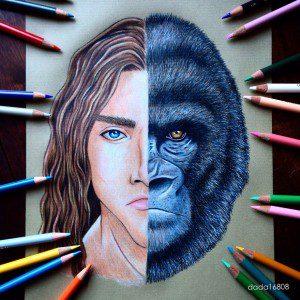 Esta artista combina los rostros de dibujos conocidos para crear nuevos