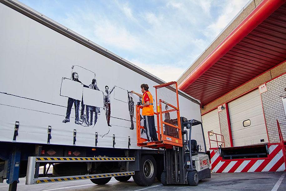 arte callejero plasmado en camiones 5