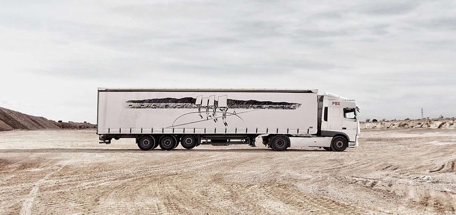 arte callejero plasmado en camiones 8