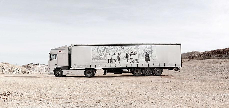 arte callejero plasmado en camiones 9