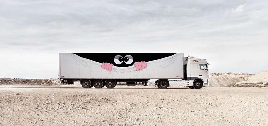 arte callejero plasmado en camiones 10