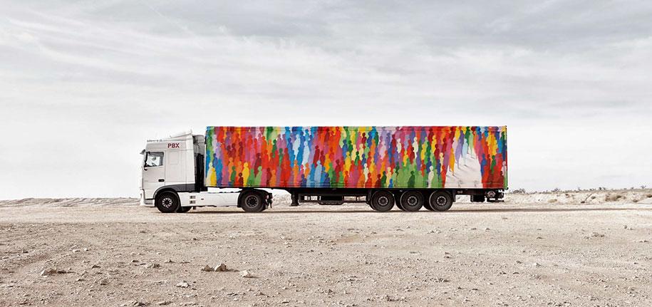 arte callejero plasmado en camiones 11