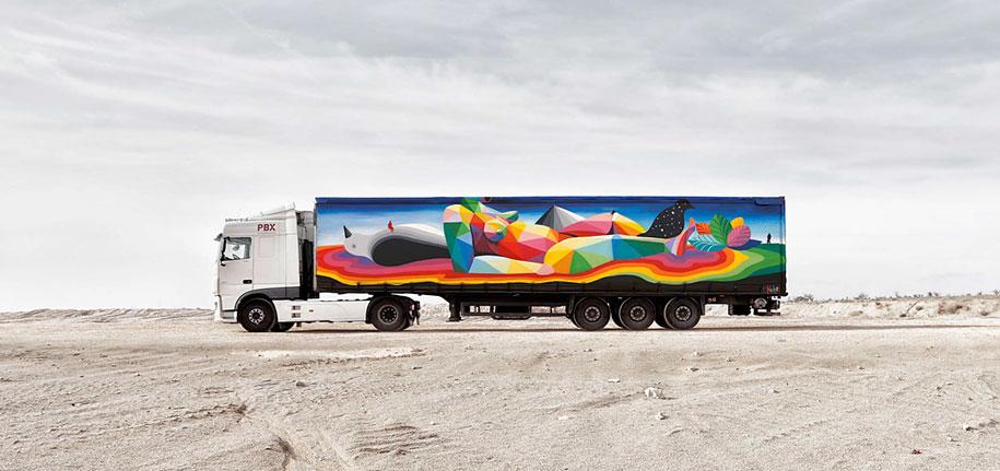 arte callejero plasmado en camiones 2