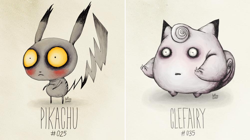 ¿Cómo se verían los Pokémons si hubieran sido creados por Tim Burton?