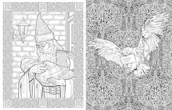 Libros para colorear de Harry Potter, dirigidos para adultos - mott.pe