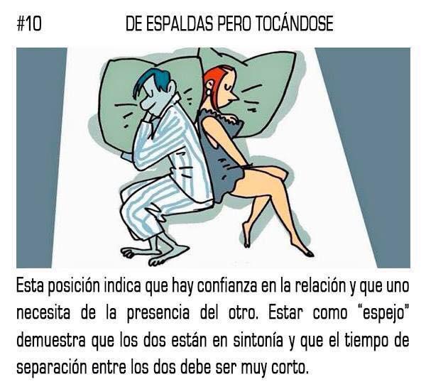 10 posturas mientras duermes que reflejan tu relación sentimental con tu pareja 10