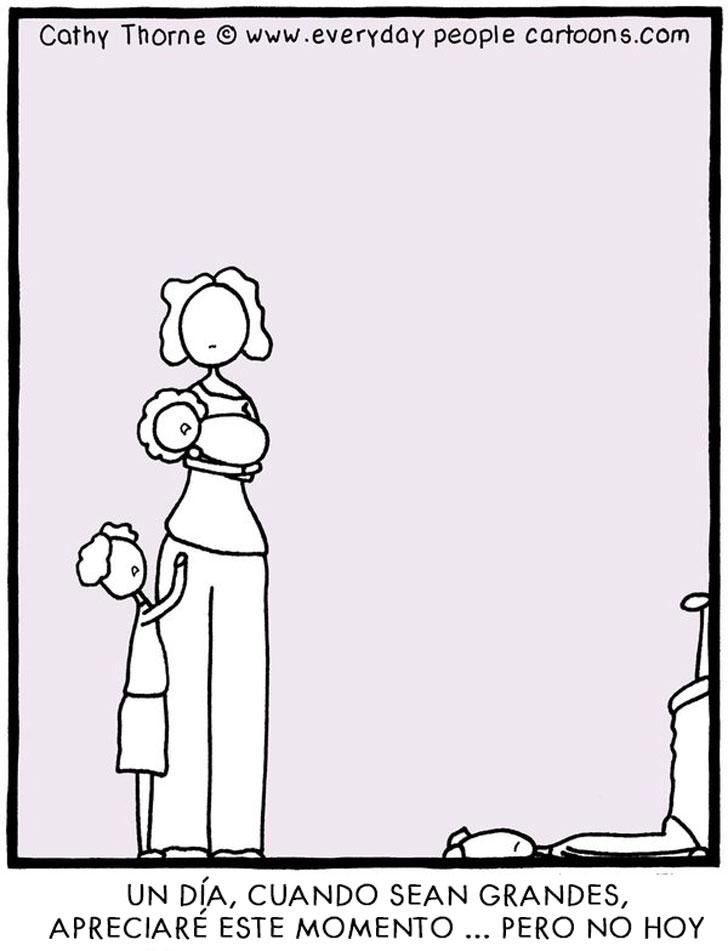 13 ilustraciones con las que toda persona con hijos se identificará cargando