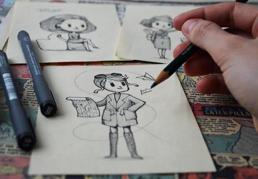 Las mujeres más reconocidas del mundo hechas ilustraciones dibujando