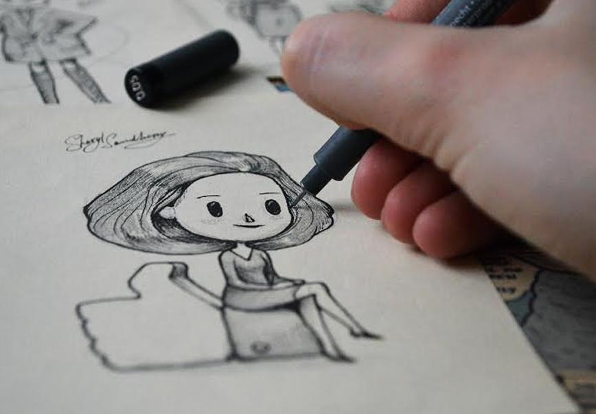 Las mujeres más reconocidas del mundo hechas ilustraciones dibujando 2