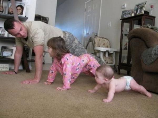 Estos divertidos padres harían cualquier cosa por sus hijos ejercicios