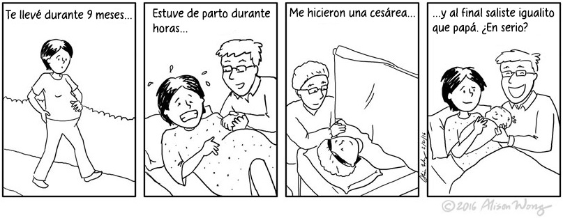 Cómics que retratan el primer año de maternidad 01