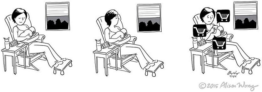 Cómics que retratan el primer año de maternidad 16