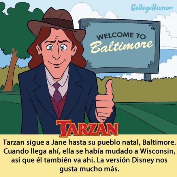 Conoce 10 cuentos de Disney que fueron modificados para llegar a la pantalla grande tarzan