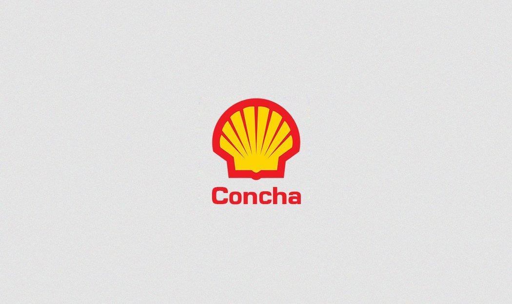 Conocidas marcas con sus nombres traducidos al español shell