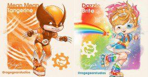 Cuando los personajes de X-Men se juntan con Rainbow Brite