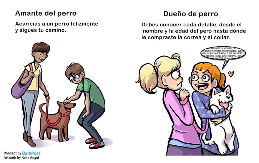 Divertidas diferencias entre ser amante de los perros y ser dueño de uno caricias